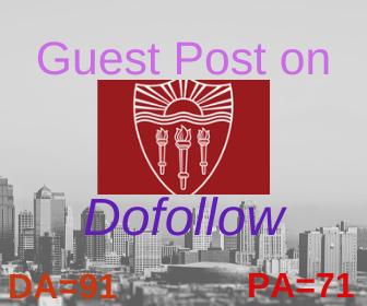 i will do a guest post on usc. edu da 91