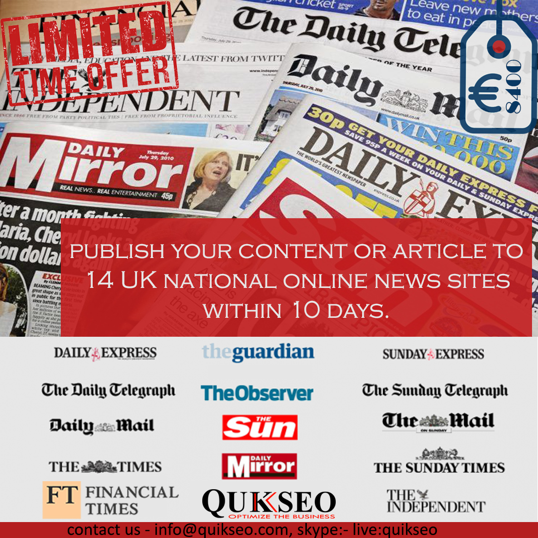 Guest post on leading UK sites - blogger outreach services UK