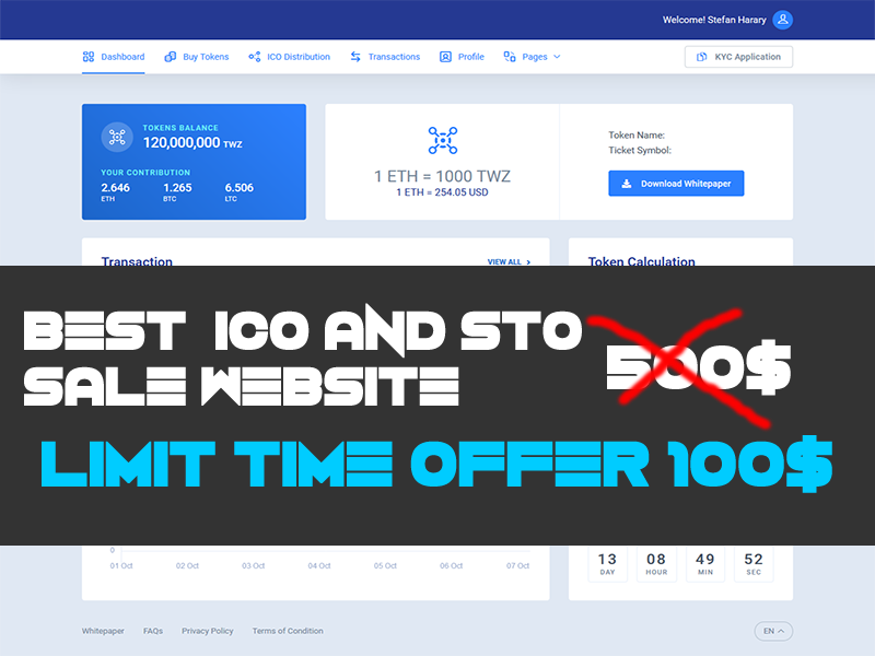 I will provide best ico admin dashboard selling site