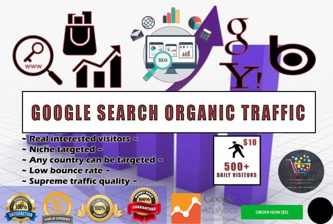 I will drive 20000 google organic visitors using targeted keywords