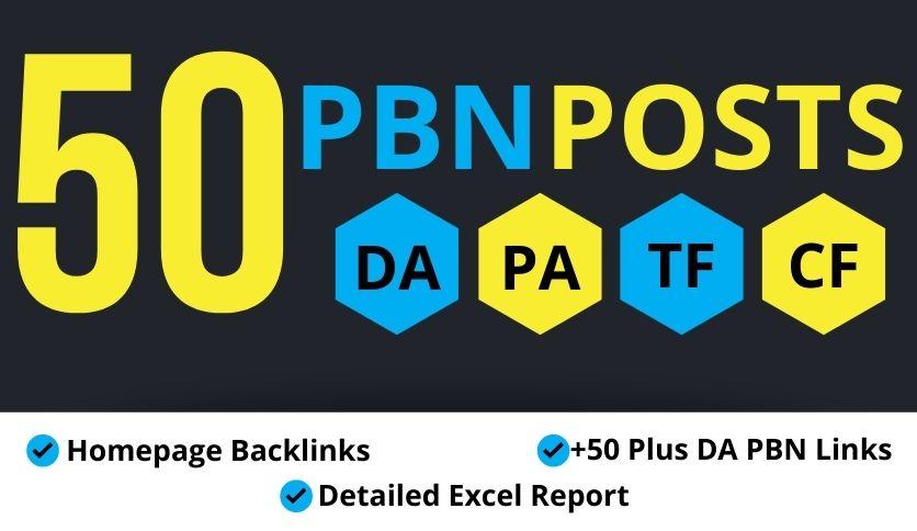 50+ Plus DA PBN Homepage Posting