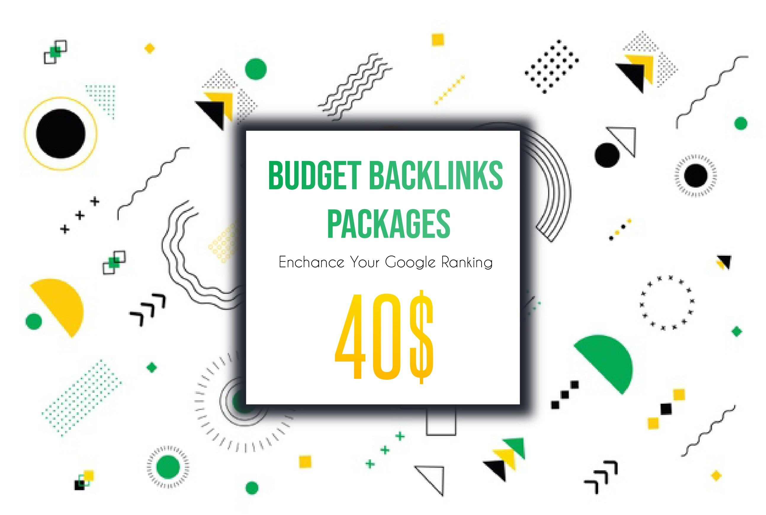 SEO BUDGET Backlinks Link Building Package