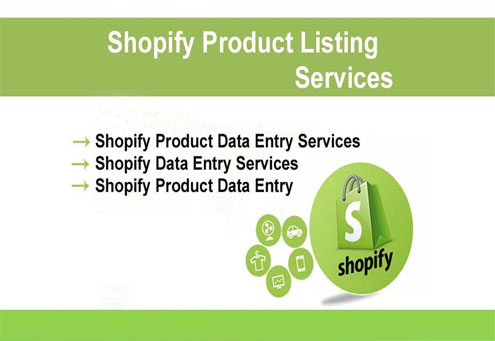Shopify product listing and data entry VA