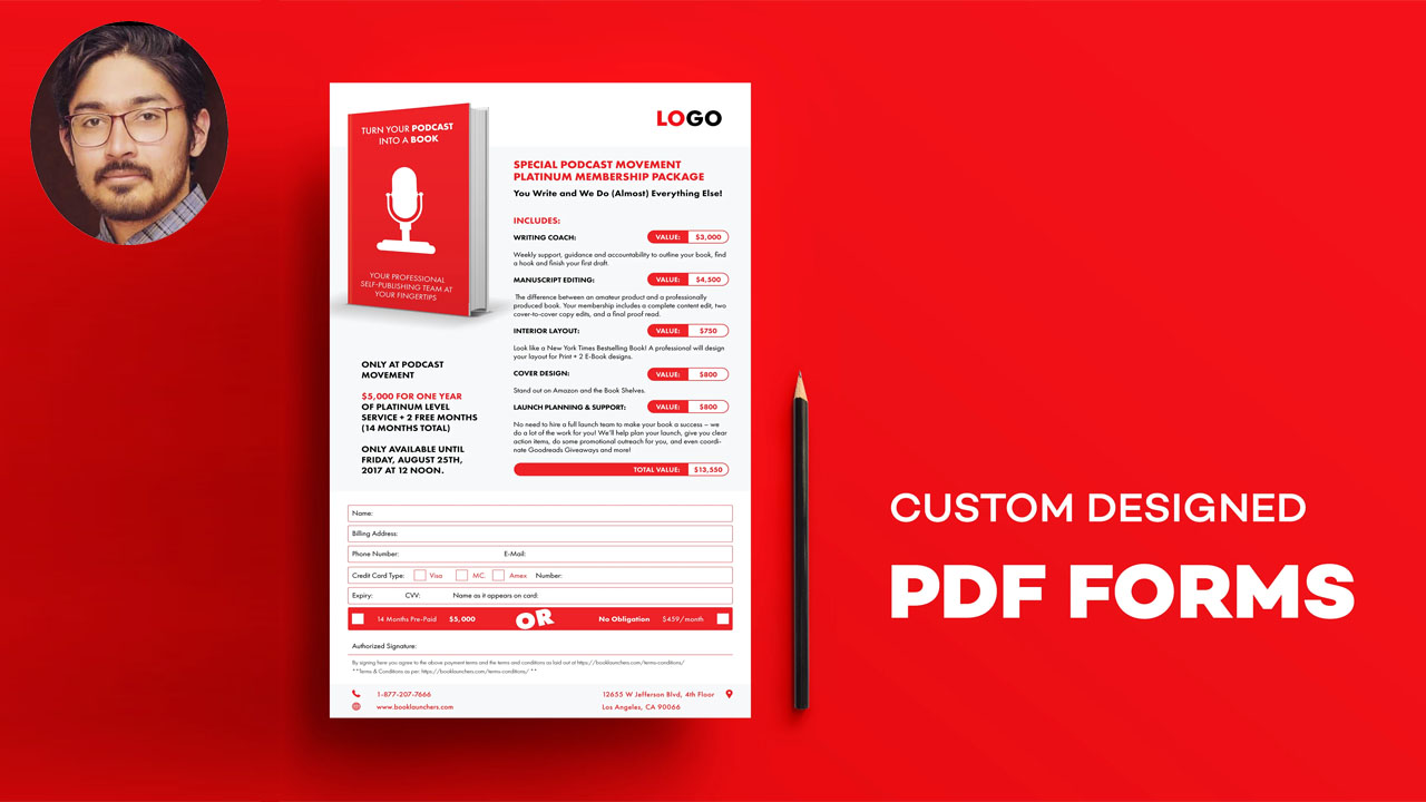 I will design fillable PDF forms