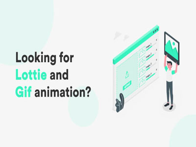 I will create GIF or JSON Lottie animation for mobile and web