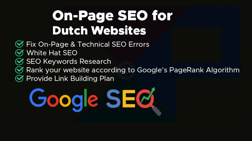 I will do complete seo for dutch website rank 1st in google