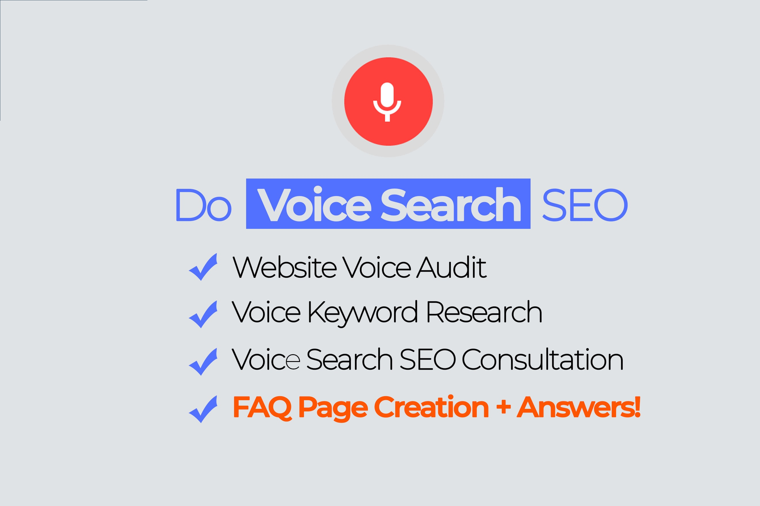 I will do voice search SEO and technical website voice audit