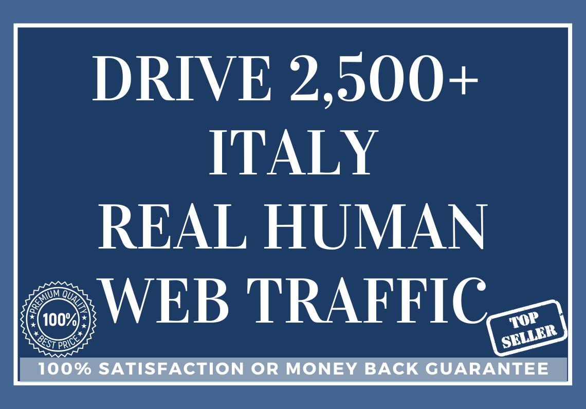 Drive 2,500 ITALY Real Human Web Traffic