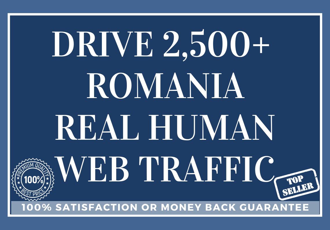 Drive 2,500+ ROMANIA Real Human Web Traffic