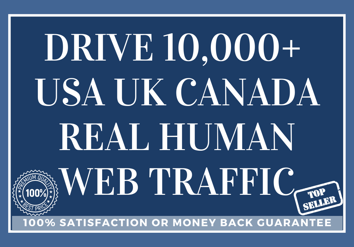 Drive 10,000+ USA UK CANADA Real Human Web Traffic