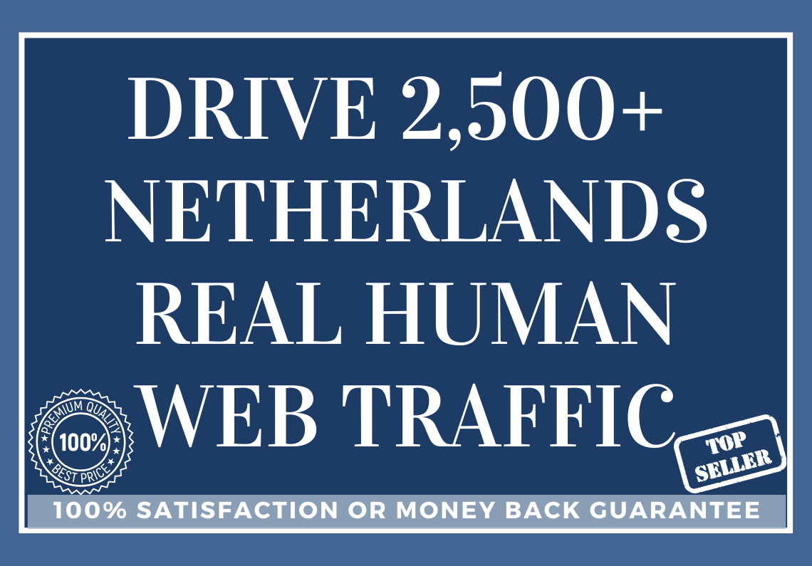 Drive 2,500 NETHERLANDS Real Human Web Traffic