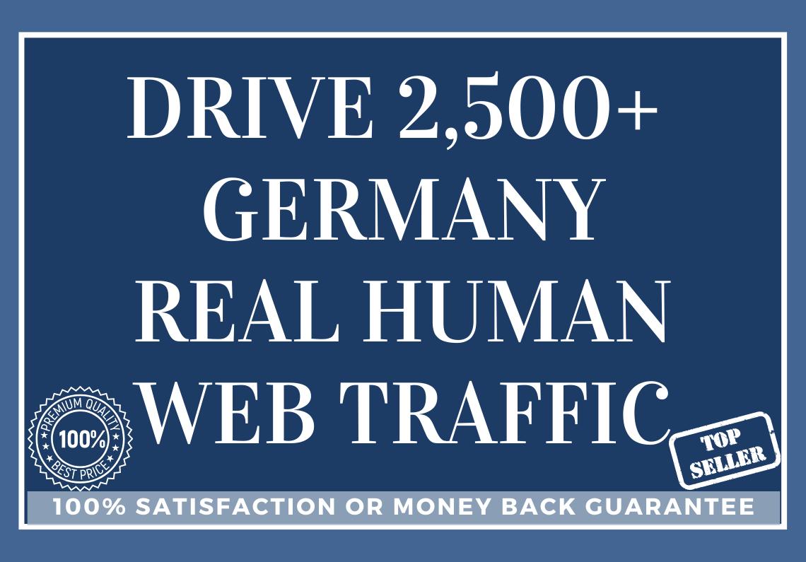 Drive 2,500 GERMANY Real Human Web Traffic