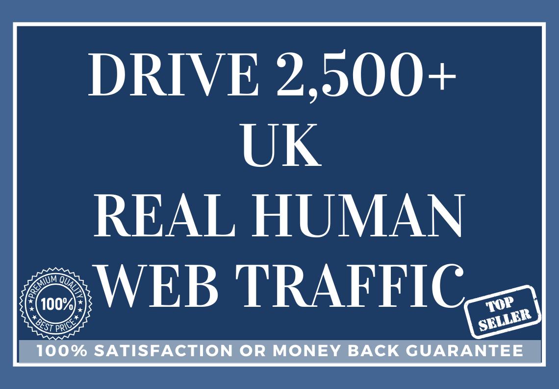 Drive 2,500+ UK Real Human Web Traffic