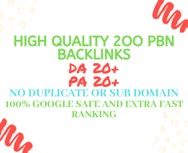 I will provide you permanent homepage 200 pbn on high quality links 2020