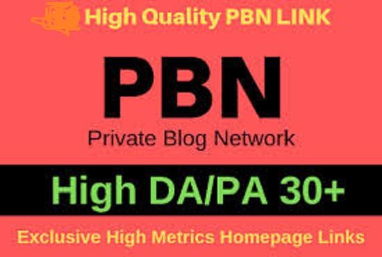 I will provide you high authority pbn backlinks da pa 30+