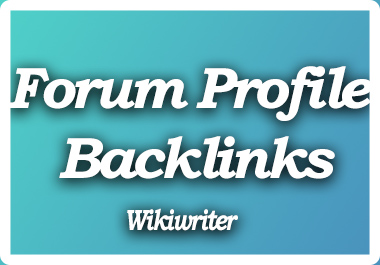 Create 500+ Forum Profile Backlinks with user credit for fast SEO Ranking Solution