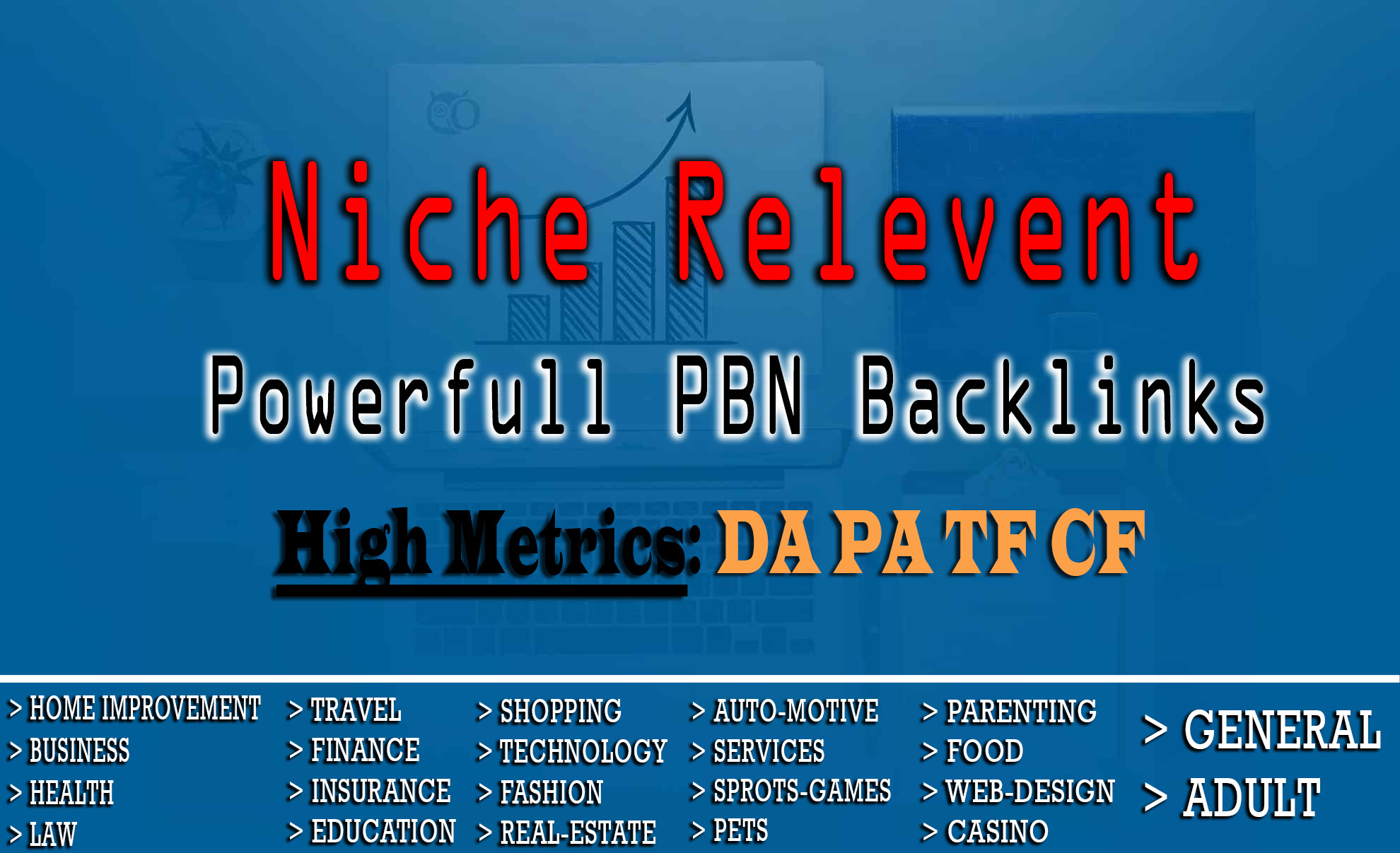 I will Provide Niche Relevant PBN Backlinks with High Metric