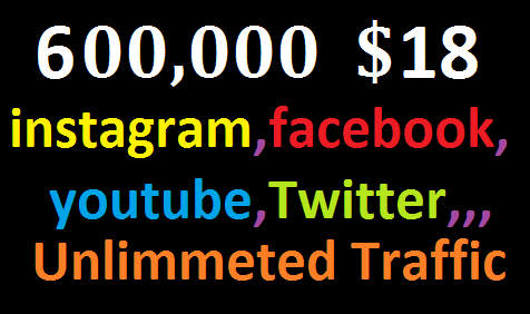 Real+600,000 Website Worldwide Traffic Instagram, Facebook, twitter, YouTube,  High Quality Traffic