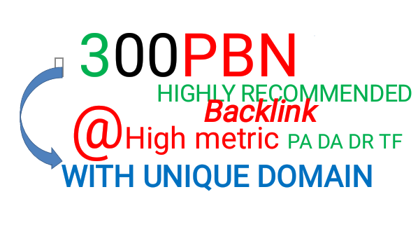 Get 300 powerfully generated Homepage Pbn backlinks