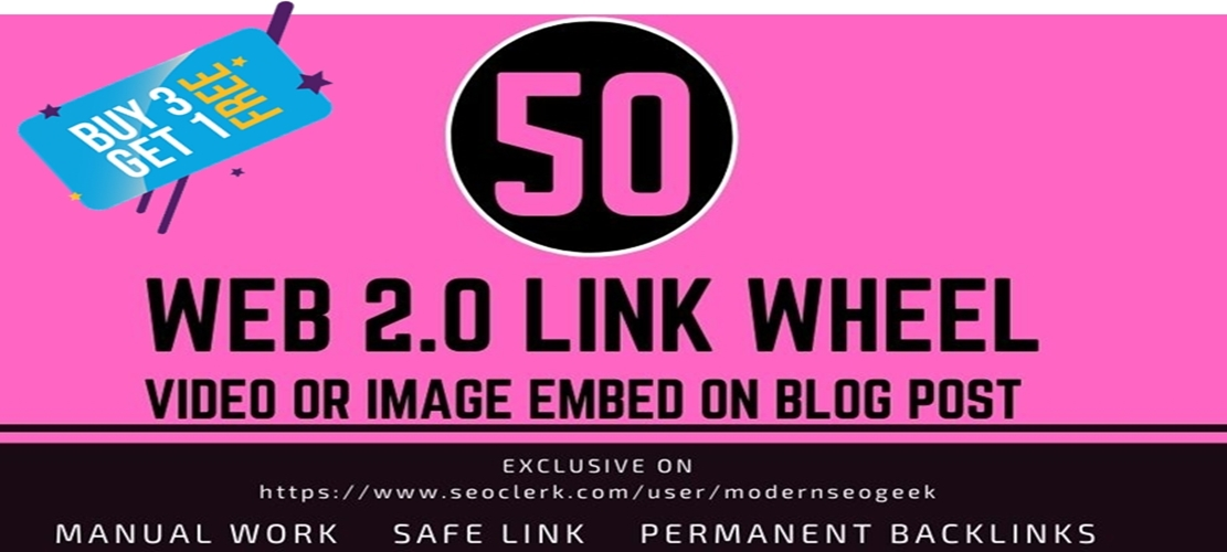 I will create Manual Linkwheel seo link building,  Backlinks from web 2.0 property