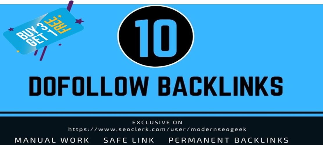 I will provide 10 Dofollow Seo Link building,  Backlinks