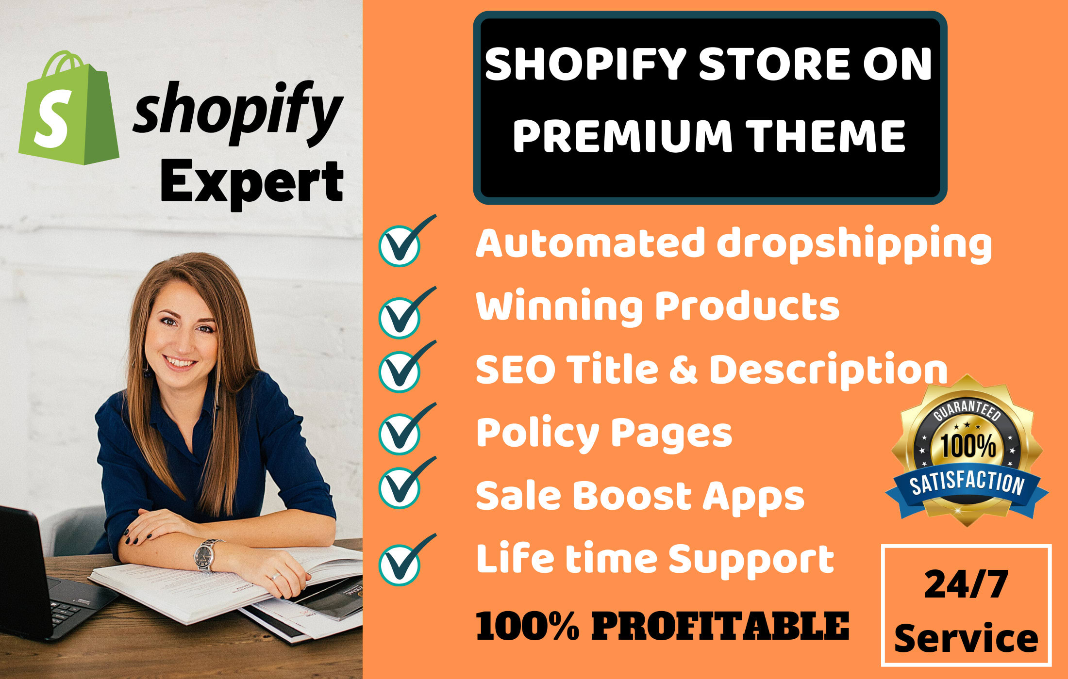 I will create shopify dropshipping store with winning products