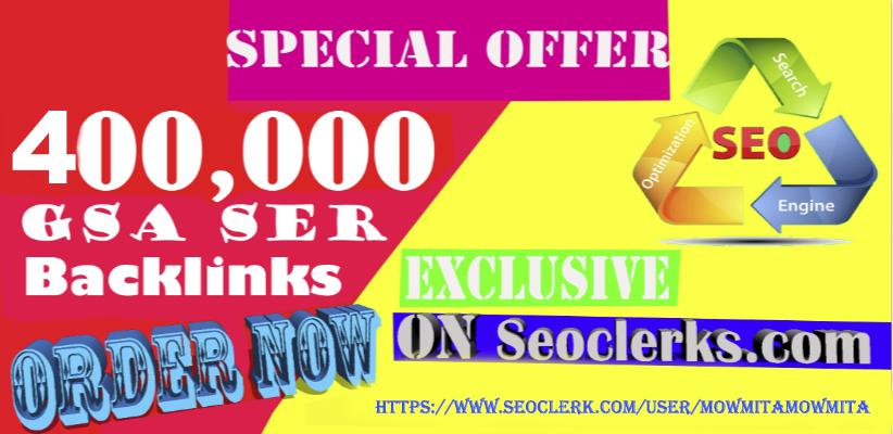 400000 Gsa,  Ser,  Backlinks For Ranking Website