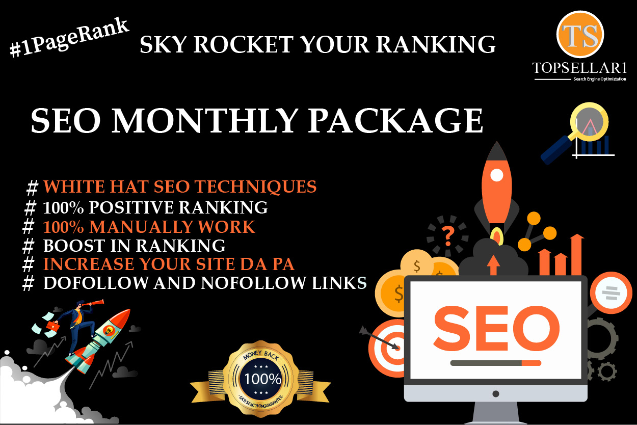 Provide white hat seo link building monthly package dofollow permanent backlinks
