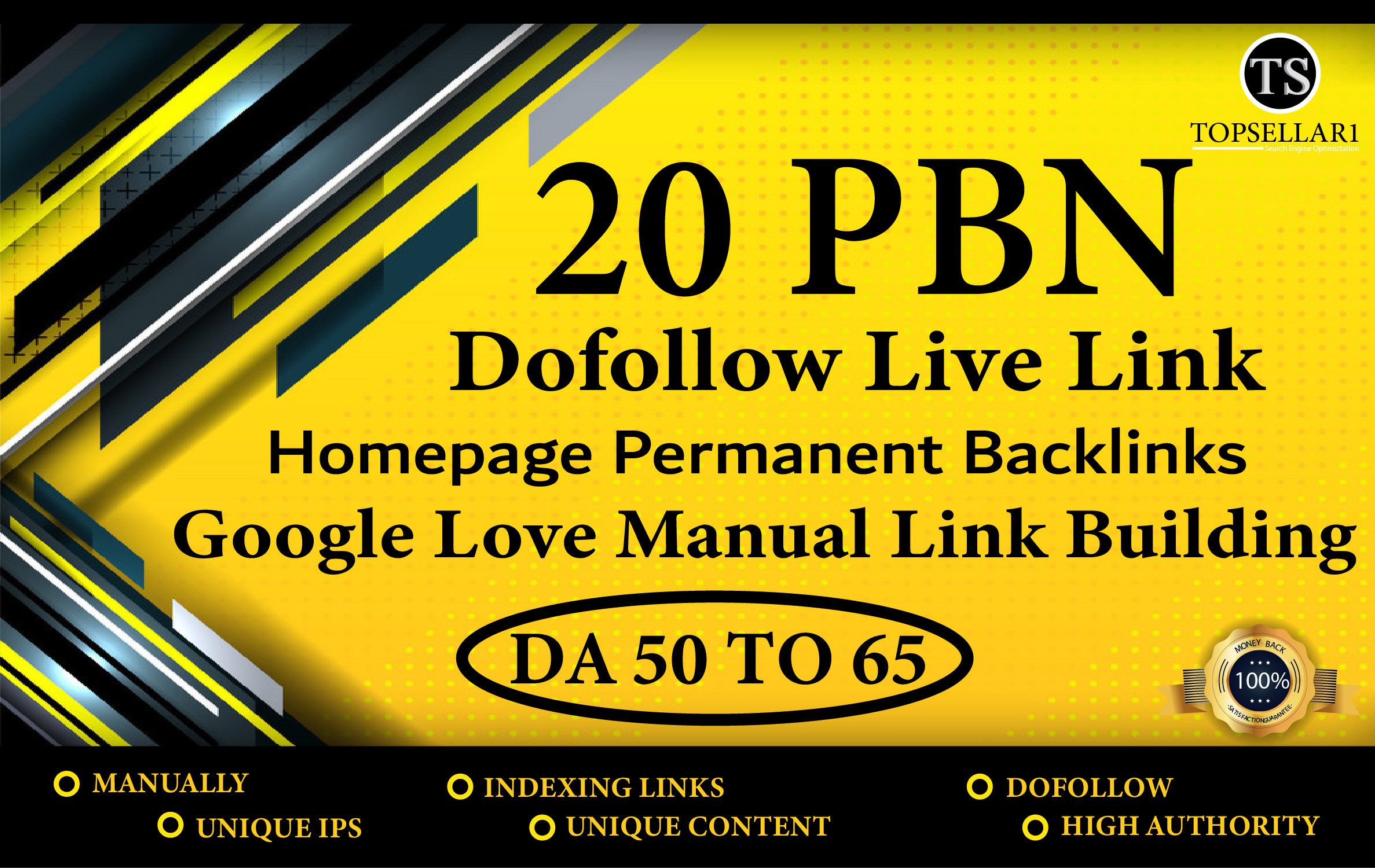 Build 20 PBN with High 60+Da 30+ dr Manual Permanent Dofollow Backlinks