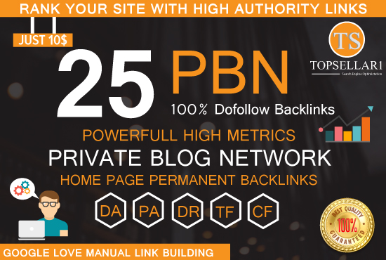 Provide high quality 25 PBN homepage permanent backlinks da 20 to 30 links
