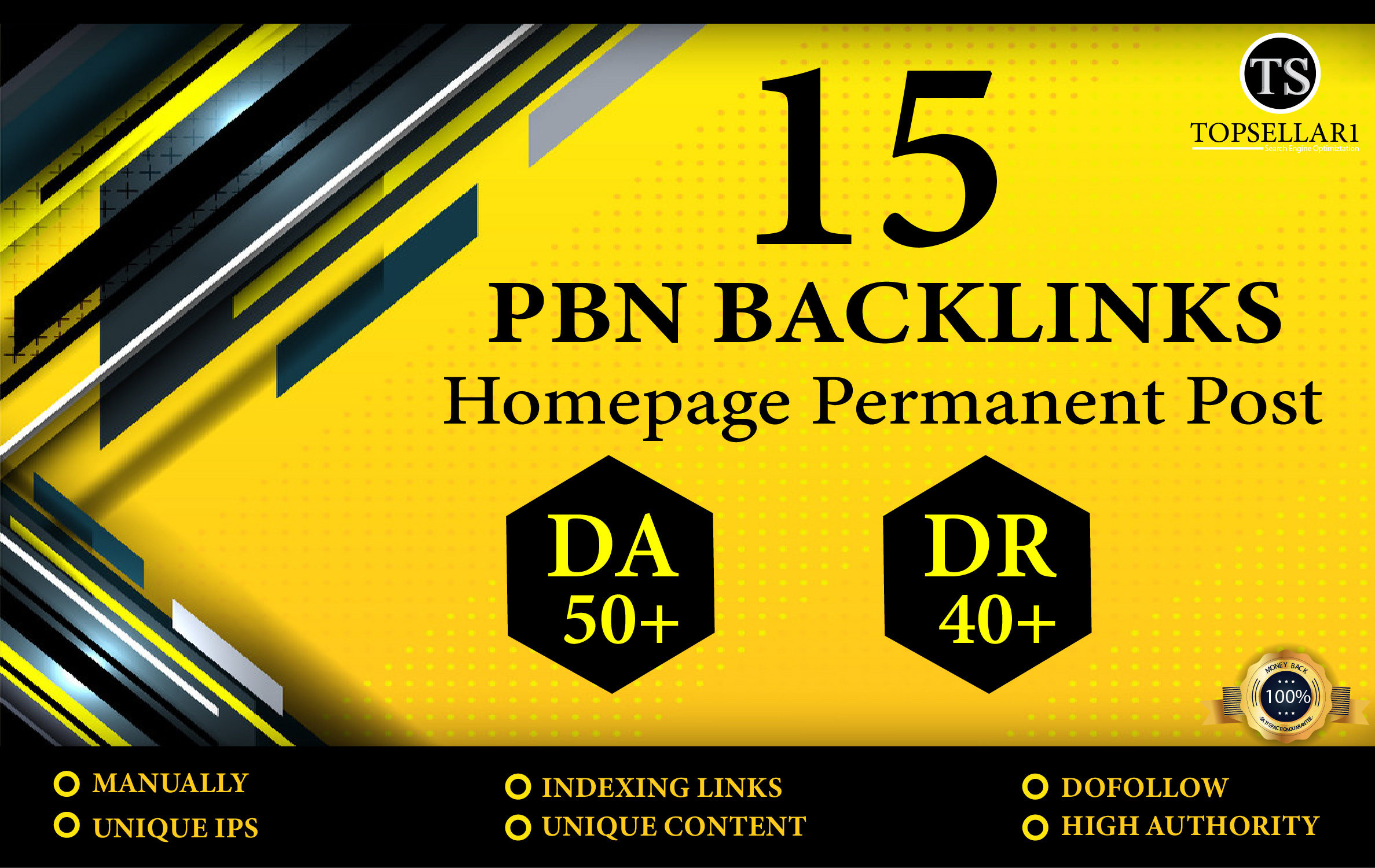 Build 15 Powerfull PBN With High DA 50+ DR 40+ Permanent Dofollow Backlinks
