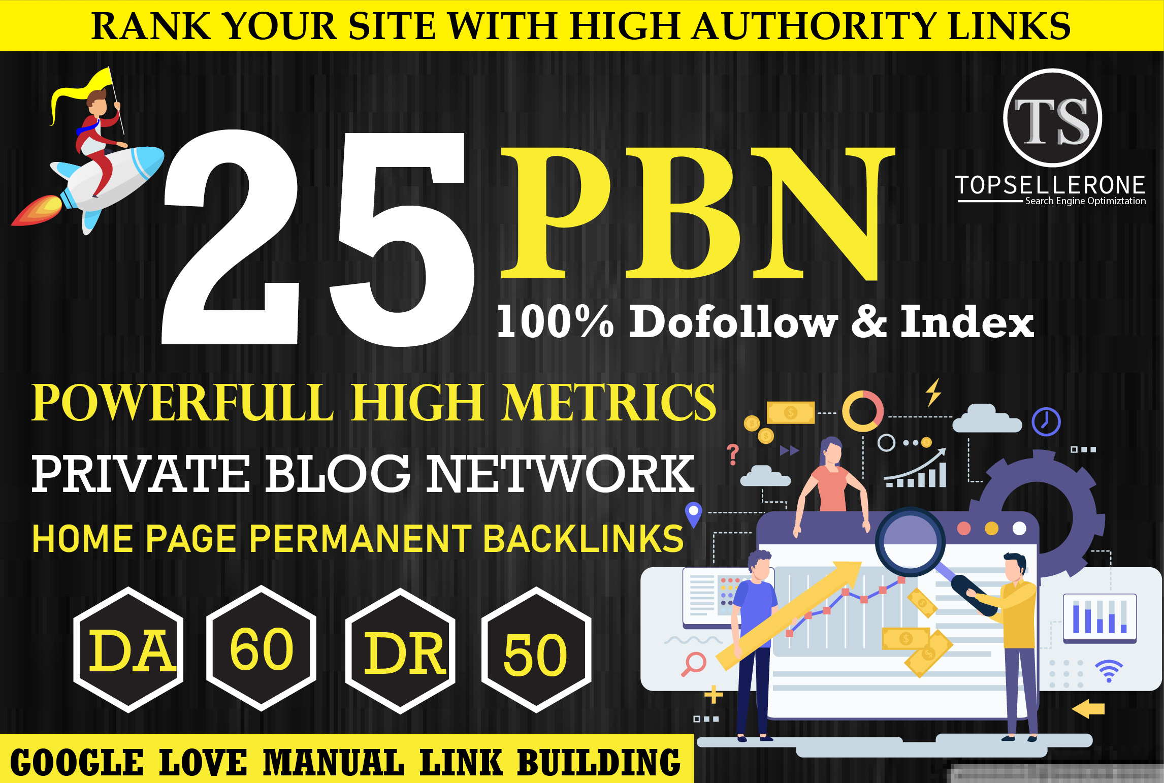 Guarante Boost Your Site With 25 Homepage PBN DA 60+ DR 50+ Low spam score Index Links