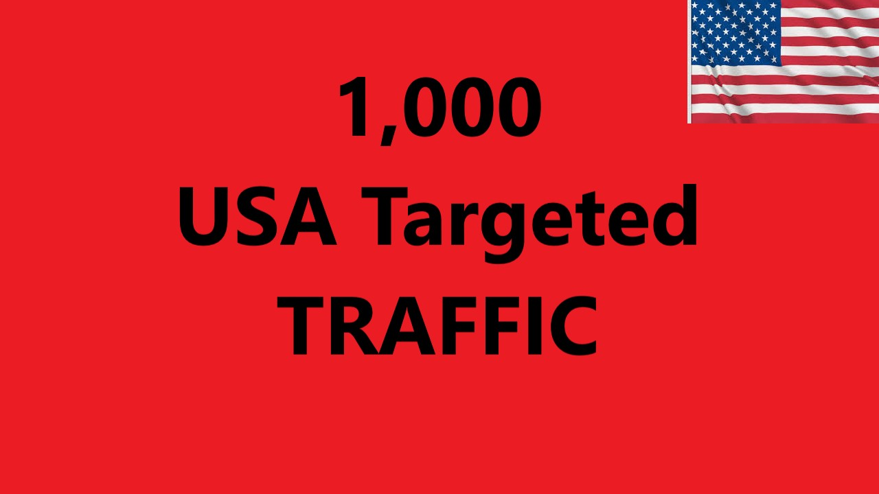 Send 1,000 USA Targeted Traffic to Your site