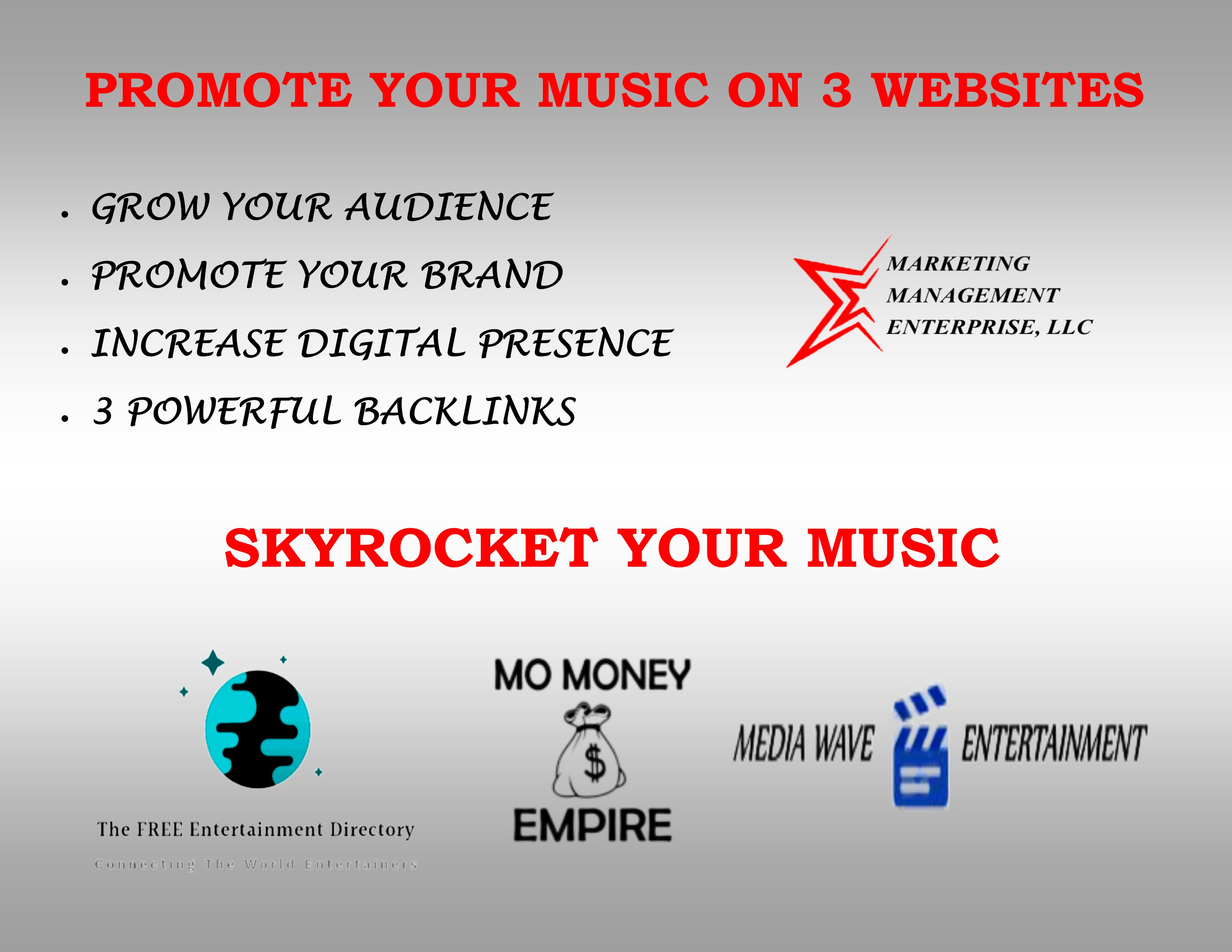 3 Entertainment Websites to PROMOTE YOUR MUSIC