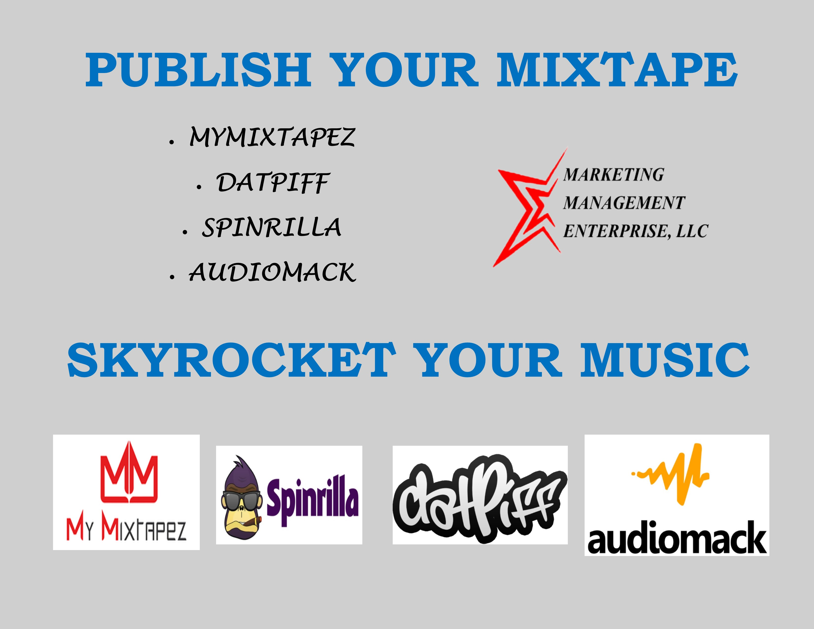 Publish Your Mixtape to TOP MUSIC WEBSITES