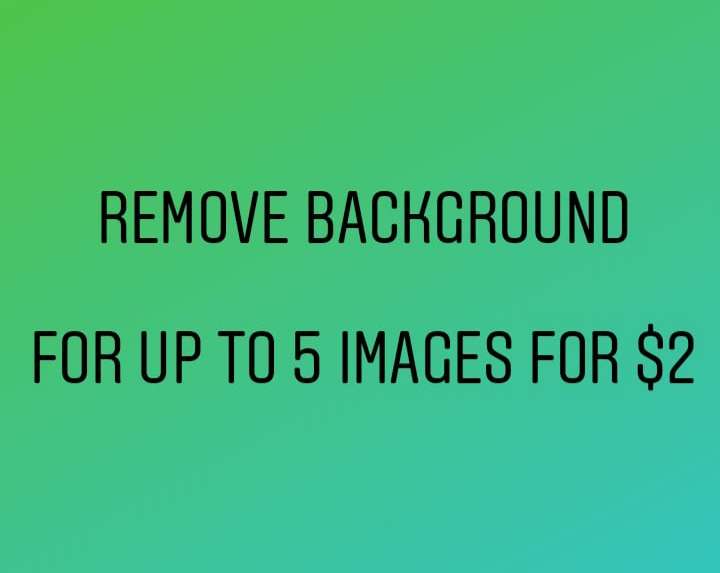 Background Removal up to 5 images