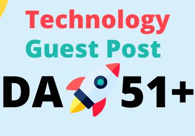 Publish guest post on my da 51 technology blog permanent