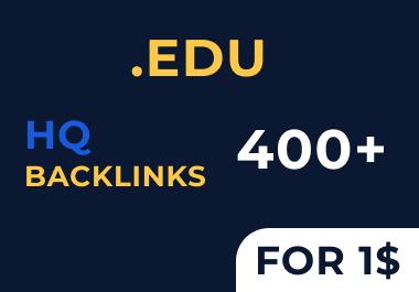 Get 400. EDU backlinks for your website