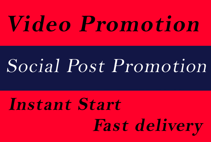 High Quality Social Video and Post Promotion with Bestest Social Media Markting