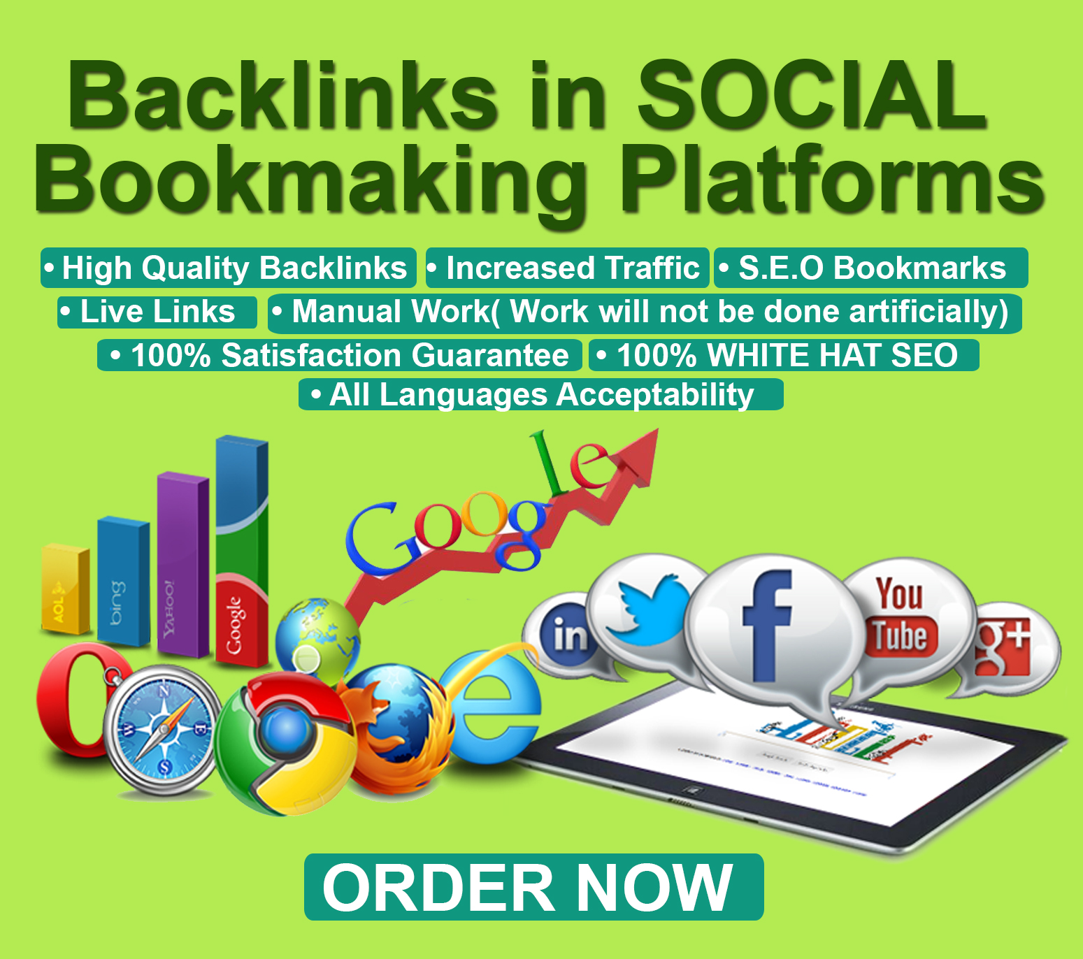 Help You Dominate Search Engines with 50 Social Bookmaking Backlinks