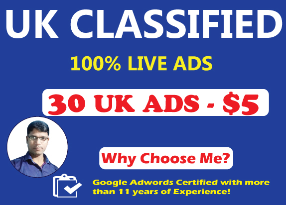 30 High Authority UK Classified Ads Posting to Drive Traffic and Sales