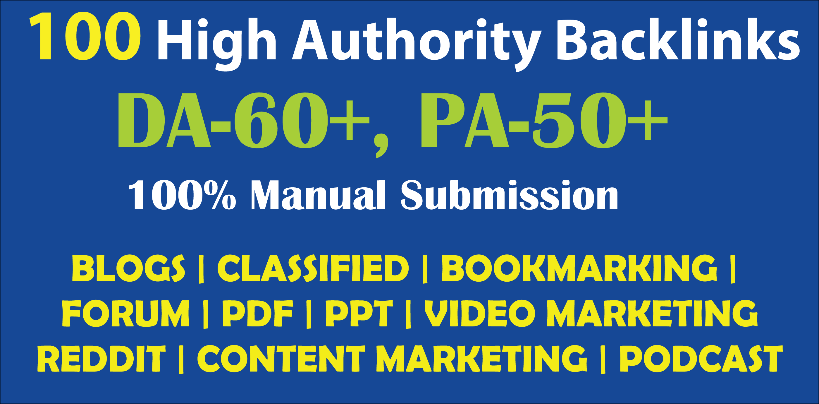 100+ High DA,  PA,  SEO Backlinks to Boost Google Ranking