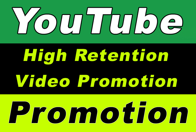 YouTube Video High Retention Promotion for improve ranking in Search Results