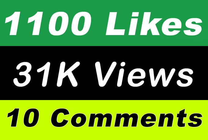 World Wide 31,000 Video Views Promotion Or 1000 Likes Or 10 Comments for Social media Marketing