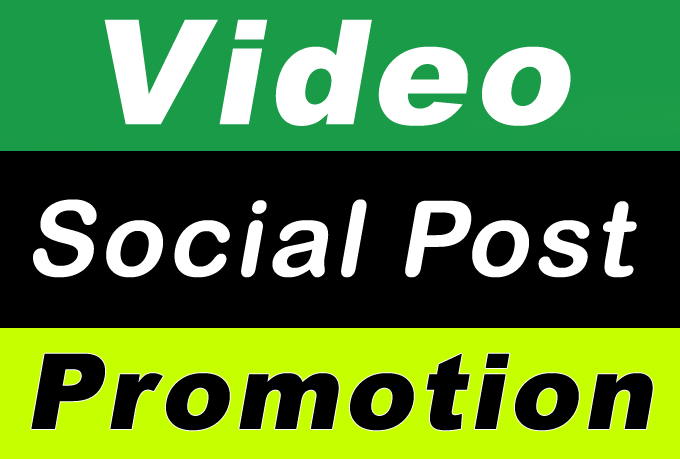 High Quality Video and post Promotion with Fastest Social Media Post Marketing