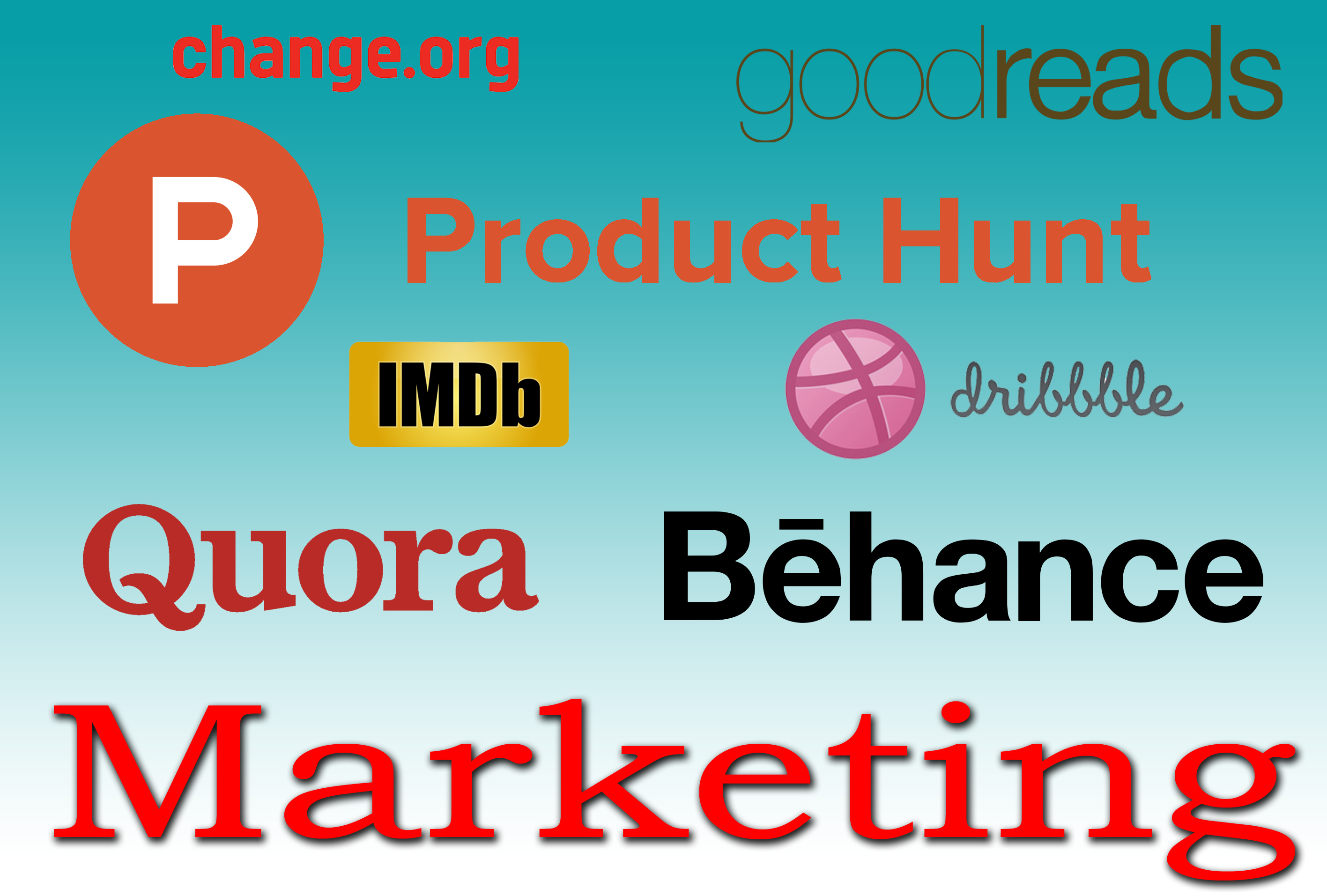 Quora, Behance, Goodreads, Imdb, Change Etc,  Promotions From 100 Users