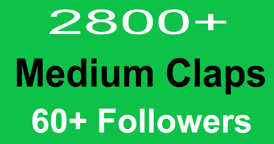Buy Medium Claps & Followers from 60+ Real Users