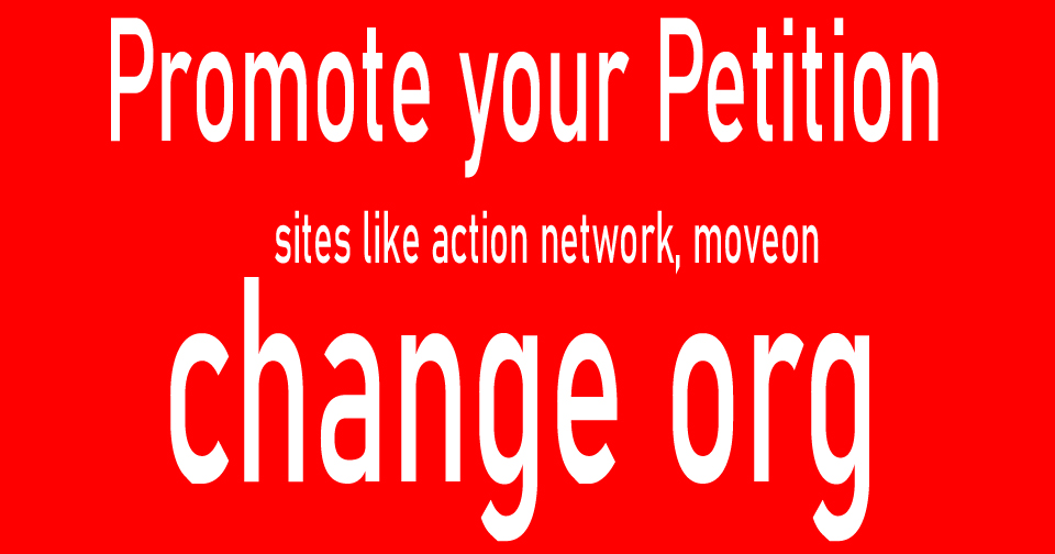 Change org petition promotions or signatures 100