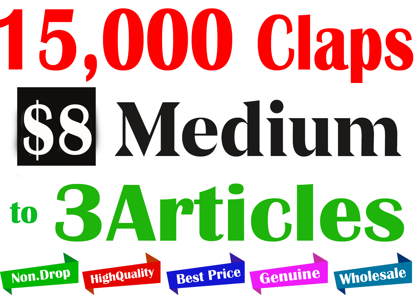 Buy 15,000+ Medium Claps to 3 Articles