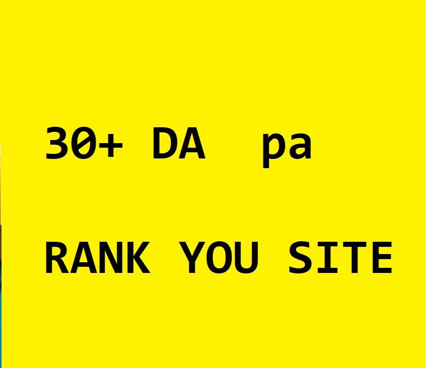 Rank you Site Possition with 30+ DA PA